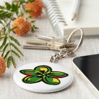 Hawaiische Flagge, Plumeria-Art Keychain Schlüsselanhänger