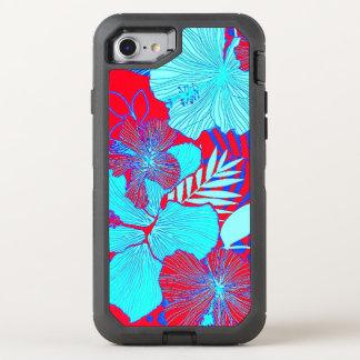 HAWAIISCHE FLUCHT-ART-MUTIGE FARBblumenmuster OtterBox Defender iPhone 8/7 Hülle