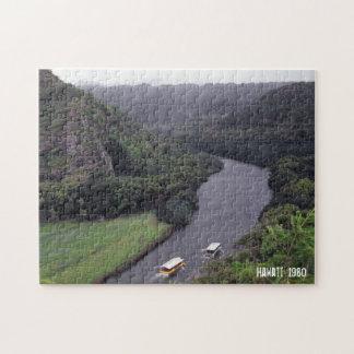 Hawaiische Fluss-Landschaftstropische Puzzle