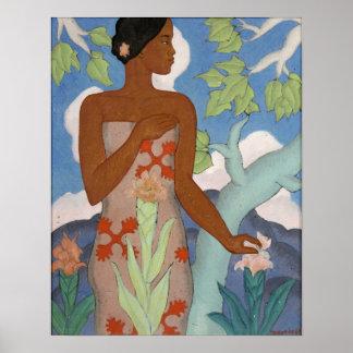 Hawaiische Frau - Arman Manookian Plakatdrucke