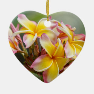 Hawaiische gelbe keramik ornament