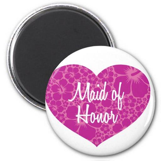 Hawaiische Herz-Hochzeit Magnete