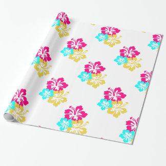 Hawaiische Hibiskus-Blumen Geschenkpapier