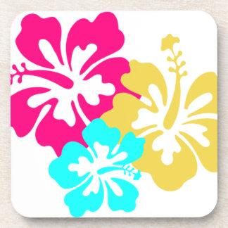 Hawaiische Hibiskus-Blumen Getränke Untersetzer