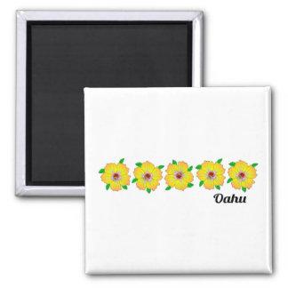 Hawaiische Hibiskus-Blumen Oahu Hawaii Quadratischer Magnet