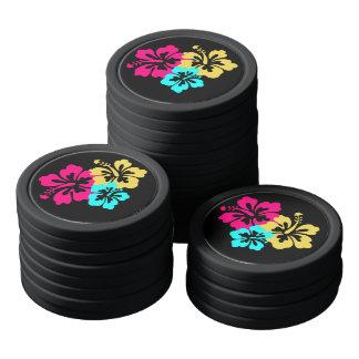 Hawaiische Hibiskus-Blumen Poker Chip Set