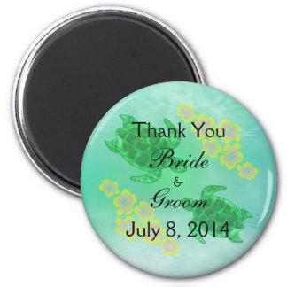 Hawaiische Honu Hochzeit danken Ihnen Magnets