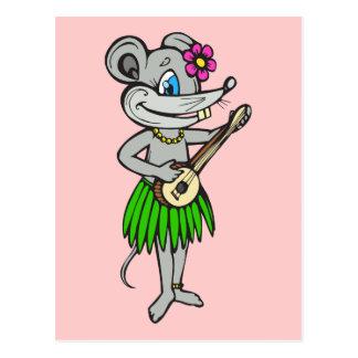 Hawaiische Hula Maus Postkarte