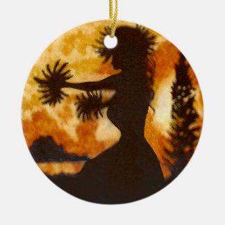 Hawaiische Hula Tänzer-Verzierung Keramik Ornament