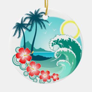 Hawaiische Insel 2 Keramik Ornament