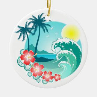 Hawaiische Insel 3 Keramik Ornament