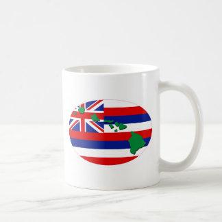 Hawaiische Insel-Flaggen-spezieller Euroentwurf Kaffeetasse