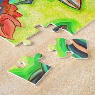 Hawaiische Insel-Honolulu-Zuhause bunt Puzzle