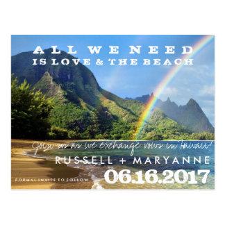 Hawaiische Inseln, die Save the Date Postkarten