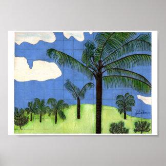 Hawaiische Landschaft durch Julia Hanna Poster