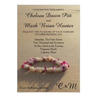 Hawaiische Leu-Strand-Hochzeits-Einladung 12,7 X 17,8 Cm Einladungskarte