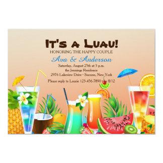 Hawaiische Luau Einladung