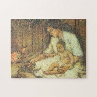 Hawaiische Mutter und Kind Puzzle