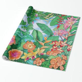 Hawaiische Orange Geschenkpapier
