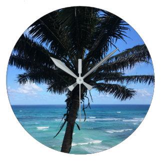 Hawaiische Palmen-Uhr Große Wanduhr