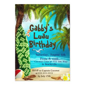 Hawaiische Party Einladung, Luau Party Einladungen