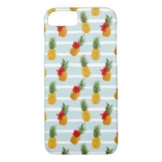 Hawaiische Sommer-Ananas-nahtloses Muster iPhone 8/7 Hülle