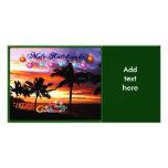 Hawaiische Sonnenuntergang-WeihnachtsFoto-Karte