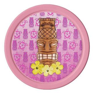 Hawaiische Tiki Maske Poker Chips Set