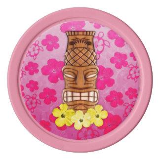Hawaiische Tiki Maske Pokerchips