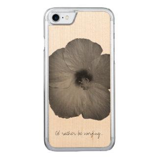 Hawaiische Träume in Schwarzweiss Carved iPhone 8/7 Hülle