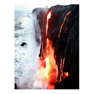 Hawaiische Vulkan-Lava-Postkarte Postkarte