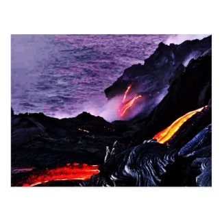 Hawaiische Vulkan-Postkarte Postkarte