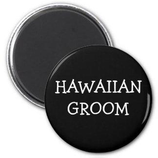 Hawaiischer Bräutigam Runder Magnet 5,7 Cm