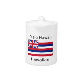 Hawaiischer Flaggen-und Sprachentwurf