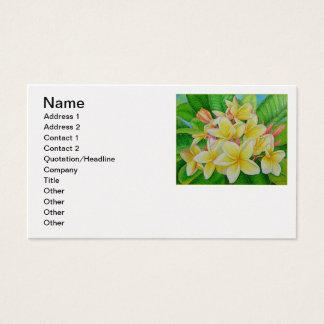 Hawaiischer Frangipani Visitenkarte