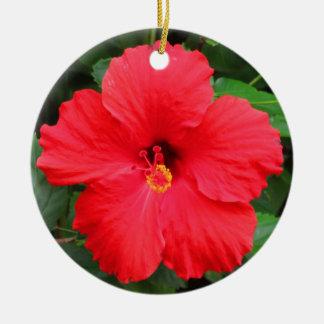 Hawaiischer Hibiskus Keramik Ornament