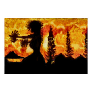 Hawaiischer Hula Tänzer Poster