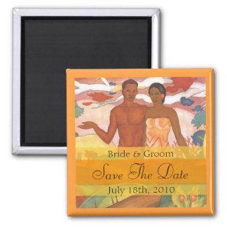 Hawaiischer Jungen-u. Mädchen-Save the Date Magnet Magnete