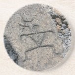 Hawaiischer Petroglyphe-Untersetzer