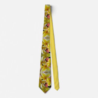 Hawaiischer Plumeria Bedruckte Krawatte