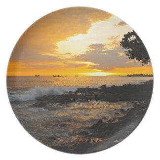 Hawaiischer Sonnenuntergang Flacher Teller