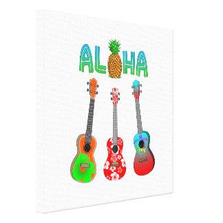Hawaiischer Ukulele Aloha Hawaii Leinwanddruck