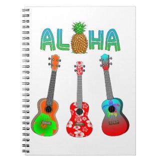 Hawaiischer Ukulele Aloha Hawaii Spiral Notizblock