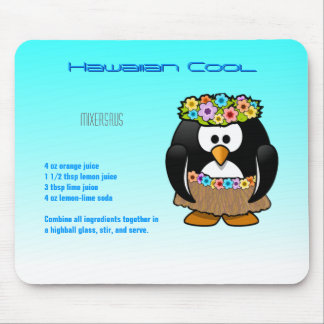 Hawaiisches cooles Getränk-Rezept Mousepad