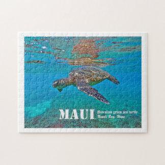 """Hawaiisches grünes Meeresschildkröte """"Honu"""" Puzzle"""