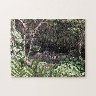 Hawaiisches Hawaii-Landschafts-Grün-üppige Puzzle