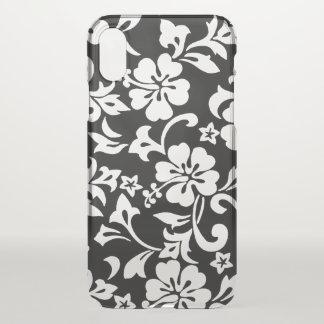 Hawaiisches Hibiskus-Schwarzes Kapalua Pareau iPhone X Hülle