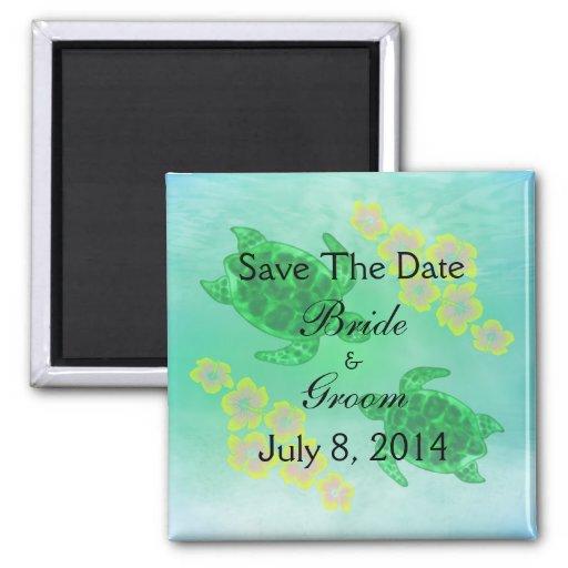 Hawaiisches Honu Save the Date Kühlschrankmagnet