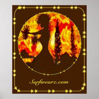 Hawaiisches Hula Tänzer-Plakat Poster