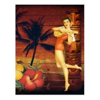 hawaiisches Mädchen des tropischen Postkarte
